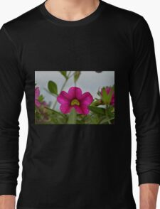 Small Pink And Yellow Flower Long Sleeve T-Shirt