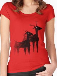 Geometric animals 4 Women's Fitted Scoop T-Shirt