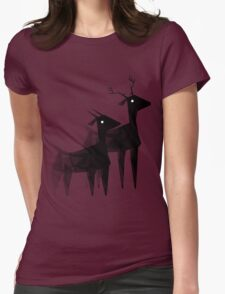 Geometric animals 4 Womens Fitted T-Shirt