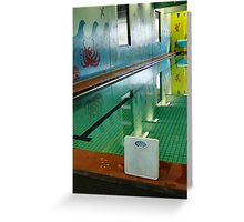 :taking your weight issues with you: should i be at the pool? Greeting Card