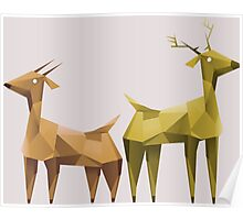 Geometric animals 1 Poster