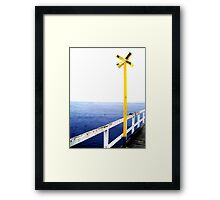 Yellow Sign Framed Print