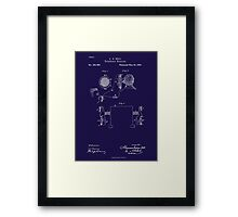 A. G. Bell Telephone Receiver Patent Framed Print