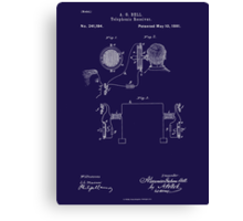 A. G. Bell Telephone Receiver Patent Canvas Print