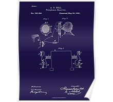 A. G. Bell Telephone Receiver Patent Poster