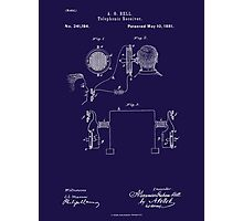 A. G. Bell Telephone Receiver Patent Photographic Print