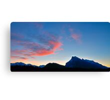 Pink is the new blue in widescape (1) Canvas Print