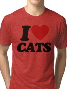 I heart cats Tri-blend T-Shirt