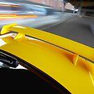 Yellow R34 Nissan Skyline rig shot by John Jovic