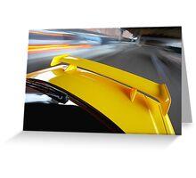 Yellow R34 Nissan Skyline rig shot Greeting Card