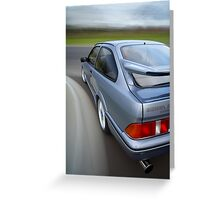 Ford Sierra RS Cosworth rig shot Greeting Card