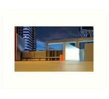 Crown Carpark Art Print