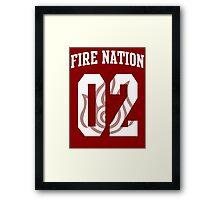 Fire Nation Jersey #02 Framed Print