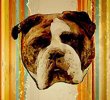 English Bulldog Grunge by klh0853