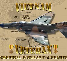 F-4 Phantom USAF Vietnam Veteran by Mil Merchant