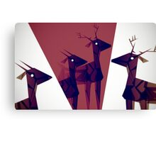Geometric animals A Canvas Print