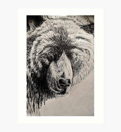 Drunk Grizzly Art Print
