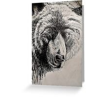 Drunk Grizzly Greeting Card