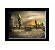 Carpark Green with Envy Art Print