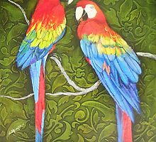 Parrots of the Caribbean by greg ottlinger