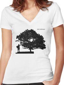 Jack Johnson Women's Fitted V-Neck T-Shirt