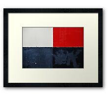 red, white and black Framed Print
