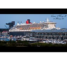 QM2 Docking Photographic Print