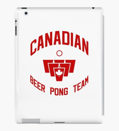 Canadian Beer Pong Team iPad Case/Skin