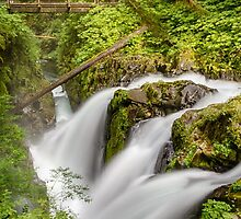 Sol Duc Falls by yellocoyote