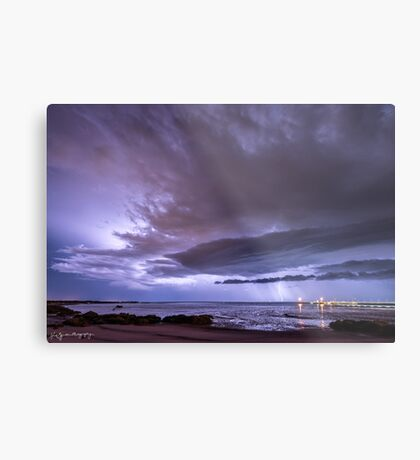 Broome Port Lightning Strike Metal Print