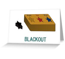 Blackout Greeting Card