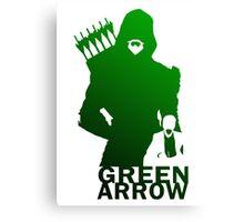arrow green Canvas Print