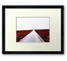you got to root right in where you are Framed Print