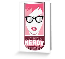 The Nerdy Stripper Logo Greeting Card