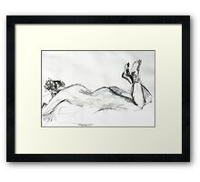 2007 Nude Female Study Framed Print