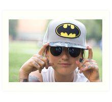 TNS Batman Cap Art Print