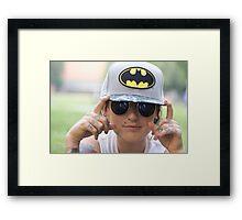 TNS Batman Cap Framed Print