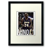 "Kobe ""Vino"" Bryant Framed Print"