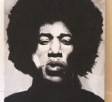 Jimi Hendrix by JORY