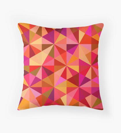 Dégradé de triangle rouge Throw Pillow
