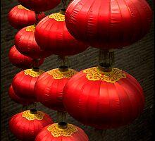 Lanterns, Xi'an, China 2006 by John Tozer