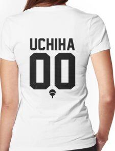 UCHIHA CLAN JERSEY (BLACK) Womens Fitted T-Shirt