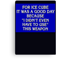 """JEOPARDY: TODAY WAS A GOOD DAY"" Canvas Print"