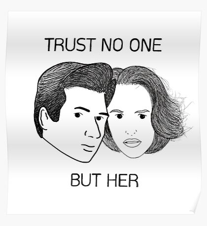 Mulder & Scully Poster