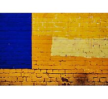 blue and yellow Photographic Print