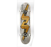 Escher bolt skate deck Poster