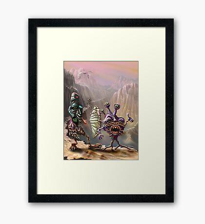 Three Friends cross the Atlip desert Framed Print