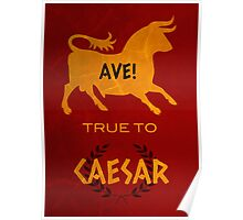 Ave! True to Caesar Poster