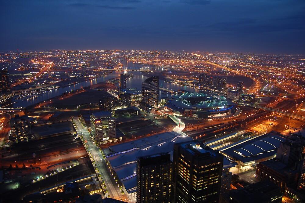 Melbourne skyline by BobbyF