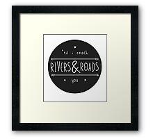 Rivers & Roads Framed Print